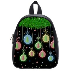 Christmas Balls   Pastel School Bags (small)  by Valentinaart