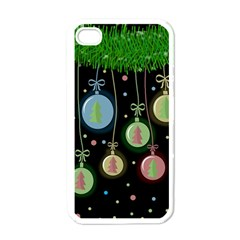 Christmas Balls   Pastel Apple Iphone 4 Case (white) by Valentinaart