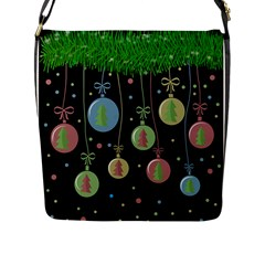 Christmas Balls   Pastel Flap Messenger Bag (l)  by Valentinaart
