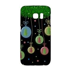 Christmas Balls   Pastel Galaxy S6 Edge by Valentinaart