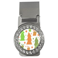 Christmas Design   Green And Orange Money Clips (cz)  by Valentinaart