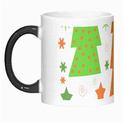 Christmas Design   Green And Orange Morph Mugs by Valentinaart