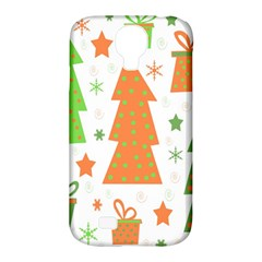 Christmas Design   Green And Orange Samsung Galaxy S4 Classic Hardshell Case (pc+silicone) by Valentinaart