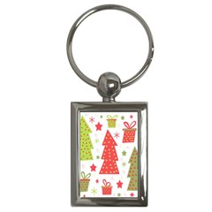 Christmas Design   Green And Red Key Chains (rectangle)  by Valentinaart