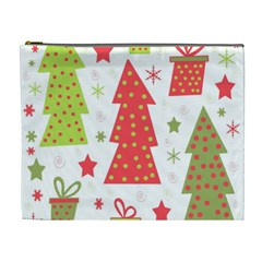 Christmas Design   Green And Red Cosmetic Bag (xl) by Valentinaart