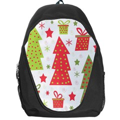 Christmas design - green and red Backpack Bag by Valentinaart