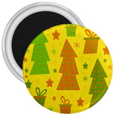 Christmas design - yellow 3  Magnets by Valentinaart