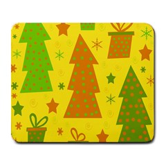 Christmas Design   Yellow Large Mousepads by Valentinaart