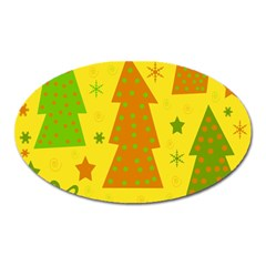 Christmas Design   Yellow Oval Magnet by Valentinaart