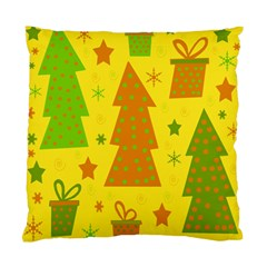 Christmas Design   Yellow Standard Cushion Case (one Side) by Valentinaart