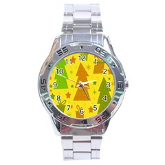 Christmas Design   Yellow Stainless Steel Analogue Watch by Valentinaart