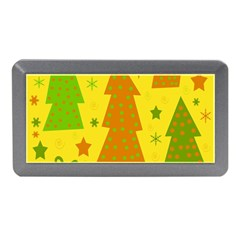 Christmas Design   Yellow Memory Card Reader (mini) by Valentinaart