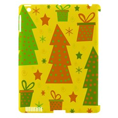 Christmas Design   Yellow Apple Ipad 3/4 Hardshell Case (compatible With Smart Cover) by Valentinaart