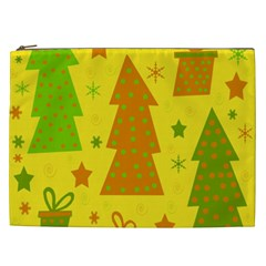 Christmas Design   Yellow Cosmetic Bag (xxl)  by Valentinaart
