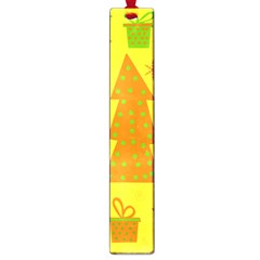 Christmas Design   Yellow Large Book Marks by Valentinaart