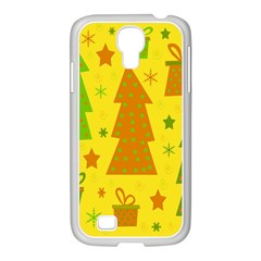 Christmas Design   Yellow Samsung Galaxy S4 I9500/ I9505 Case (white) by Valentinaart