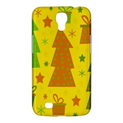 Christmas Design   Yellow Samsung Galaxy Mega 6 3  I9200 Hardshell Case by Valentinaart