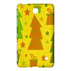 Christmas design - yellow Samsung Galaxy Tab 4 (8 ) Hardshell Case  by Valentinaart