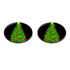 Christmas Tree Cufflinks (oval) by Valentinaart