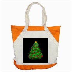 Christmas Tree Accent Tote Bag by Valentinaart