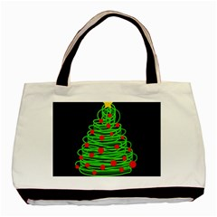 Christmas Tree Basic Tote Bag (two Sides) by Valentinaart