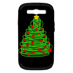 Christmas Tree Samsung Galaxy S Iii Hardshell Case (pc+silicone) by Valentinaart