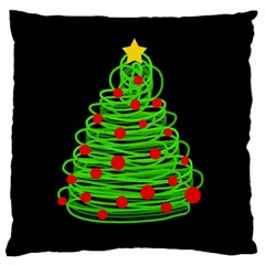 Christmas Tree Large Flano Cushion Case (one Side) by Valentinaart