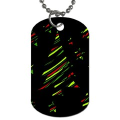 Abstract Christmas Tree Dog Tag (two Sides) by Valentinaart