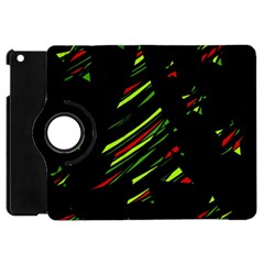 Abstract Christmas Tree Apple Ipad Mini Flip 360 Case by Valentinaart