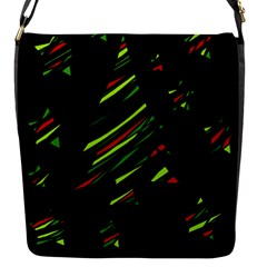 Abstract Christmas Tree Flap Messenger Bag (s) by Valentinaart
