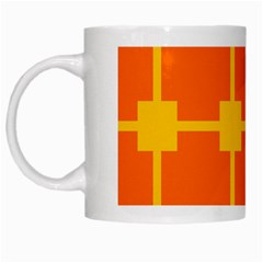 Squares And Rectangles                                                                                                White Mug by LalyLauraFLM