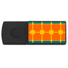 Squares And Rectangles                                                                                                			usb Flash Drive Rectangular (4 Gb) by LalyLauraFLM