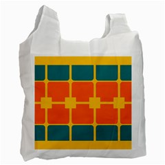 Squares And Rectangles                                                                                                recycle Bag (one Side) by LalyLauraFLM