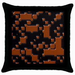 Brown Pieces                                                                                                  			throw Pillow Case (black) by LalyLauraFLM