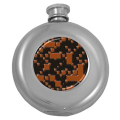 Brown Pieces                                                                                                  hip Flask (5 Oz) by LalyLauraFLM