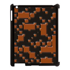Brown Pieces                                                                                                 			apple Ipad 3/4 Case (black) by LalyLauraFLM