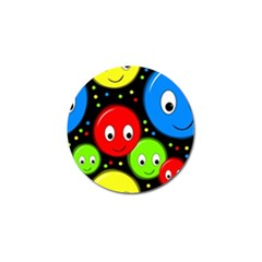 Smiley faces pattern Golf Ball Marker by Valentinaart