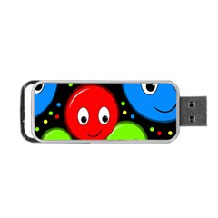 Smiley faces pattern Portable USB Flash (Two Sides) by Valentinaart