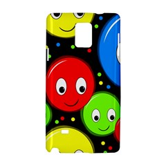 Smiley Faces Pattern Samsung Galaxy Note 4 Hardshell Case by Valentinaart