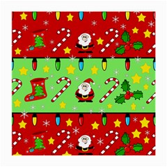 Christmas Pattern   Green And Red Medium Glasses Cloth (2 Side) by Valentinaart