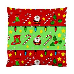 Christmas Pattern   Green And Red Standard Cushion Case (one Side) by Valentinaart
