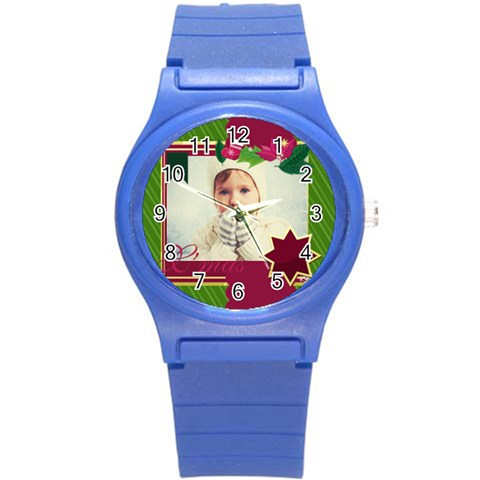 Xmas Merry Christmas By 2016   Round Plastic Sport Watch (s)   Fyfk9hemwooy   Www Artscow Com Front