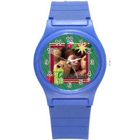 Xmas Merry Christmas By 2016   Round Plastic Sport Watch (s)   Tw3cdoinrhxl   Www Artscow Com Front