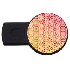 Orange Ombre Mosaic Pattern Usb Flash Drive Round (2 Gb)  by TanyaDraws