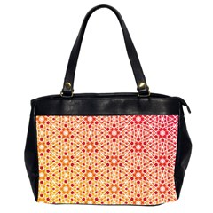 Orange Ombre Mosaic Pattern Office Handbags (2 Sides)