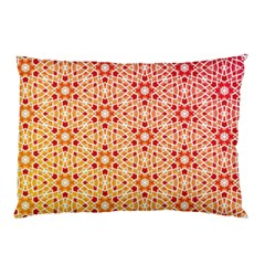 Orange Ombre Mosaic Pattern Pillow Case (two Sides)