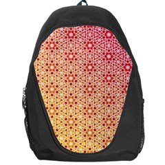 Orange Ombre Mosaic Pattern Backpack Bag by TanyaDraws