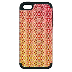 Orange Ombre Mosaic Pattern Apple Iphone 5 Hardshell Case (pc+silicone) by TanyaDraws
