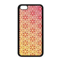 Orange Ombre Mosaic Pattern Apple Iphone 5c Seamless Case (black) by TanyaDraws