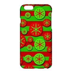 Snowflake red and green pattern Apple iPhone 6 Plus/6S Plus Hardshell Case